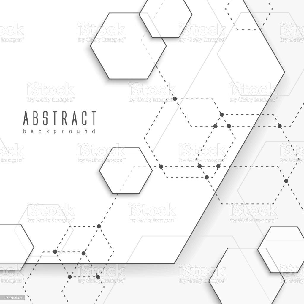 simplicity hexagon element background design vector art illustration
