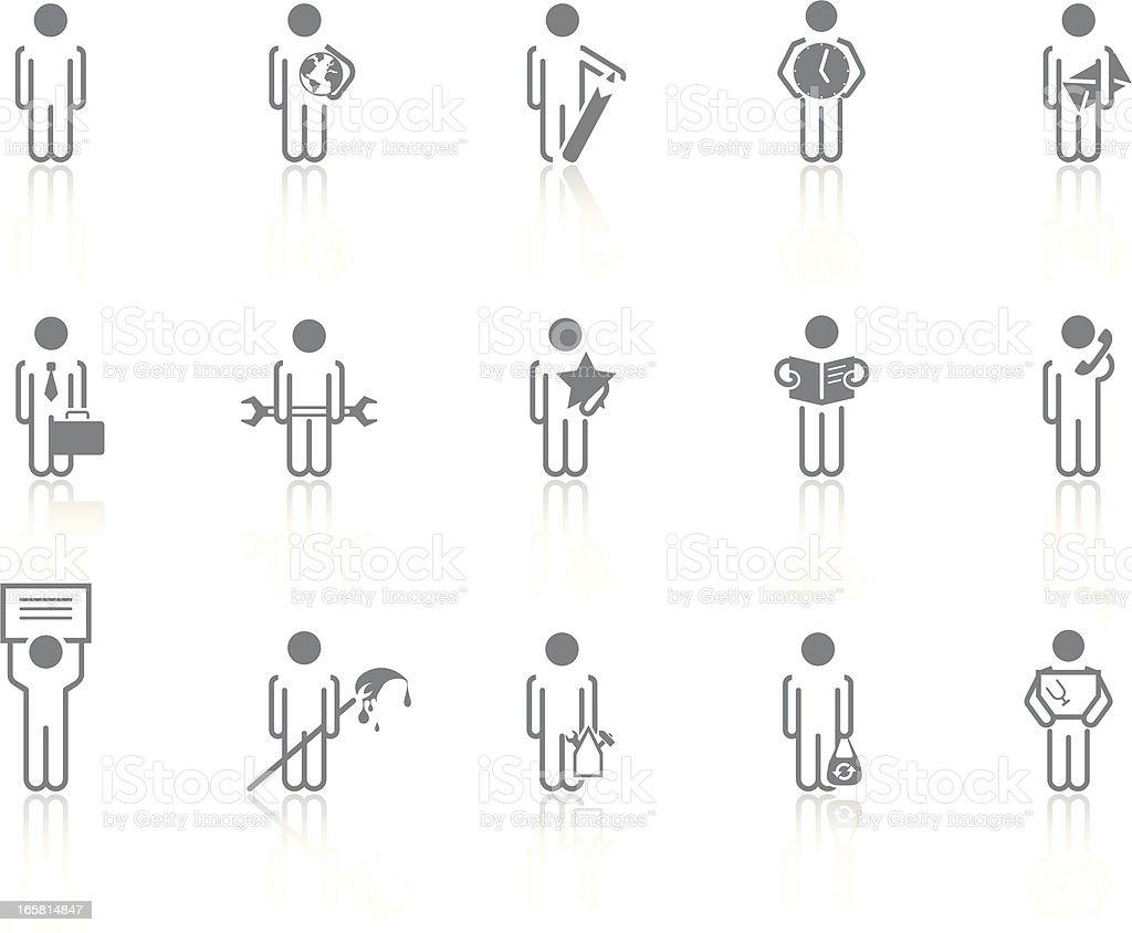 Simplicity > Men royalty-free stock vector art