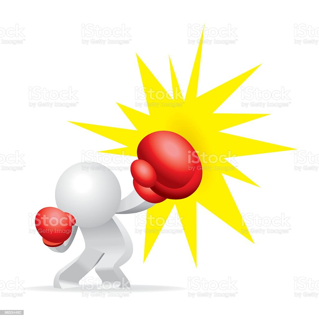 Simplified man Boxing Punch royalty-free simplified man boxing punch stock vector art & more images of adult