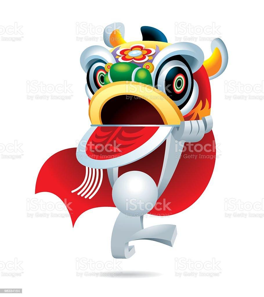 Semplificato uomo saltare Danza del leone semplificato uomo saltare danza del leone - immagini vettoriali stock e altre immagini di adulto royalty-free