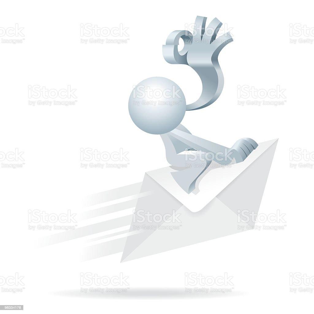 Uomo va semplificato per un Fast posta espressa uomo va semplificato per un fast posta espressa - immagini vettoriali stock e altre immagini di accordo d'intesa royalty-free