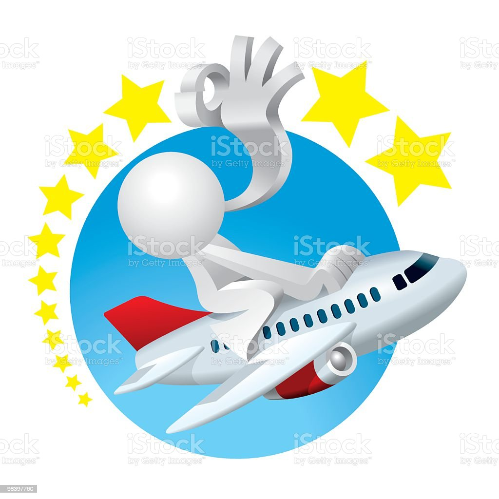 Simplified man Perfect Flying Experience royalty-free simplified man perfect flying experience stock vector art & more images of adult