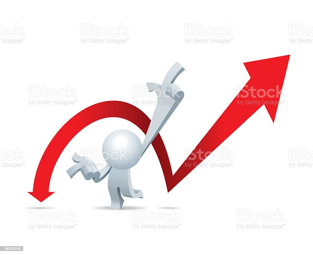 Simplified man Predict The Share Market. royalty-free simplified man predict the share market stock vector art & more images of adult