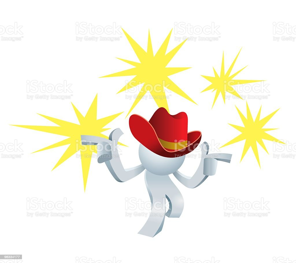 Simplified man Shooting Cowboy royalty-free simplified man shooting cowboy stock vector art & more images of adult