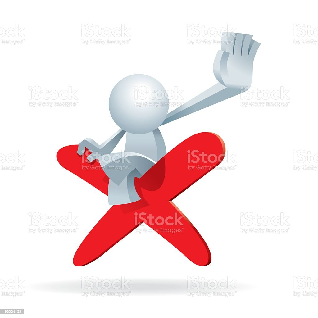 Simplified man Stop You on a No Sign royalty-free simplified man stop you on a no sign stock vector art & more images of adult