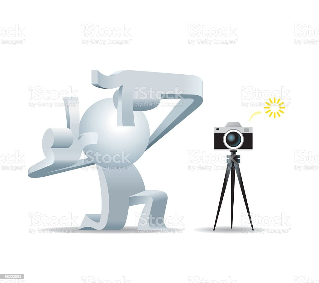 Simplified man Take Picture of You royalty-free simplified man take picture of you stock vector art & more images of adult