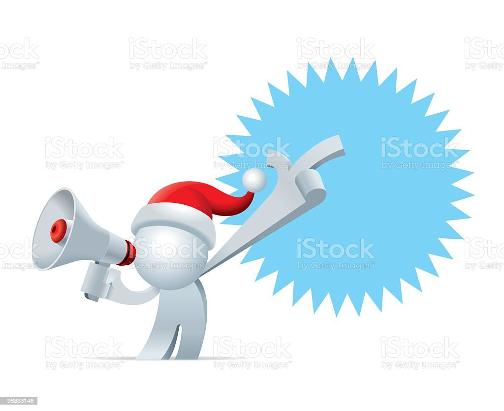 Simplified man The Christmas Promotion royalty-free simplified man the christmas promotion stock vector art & more images of adult