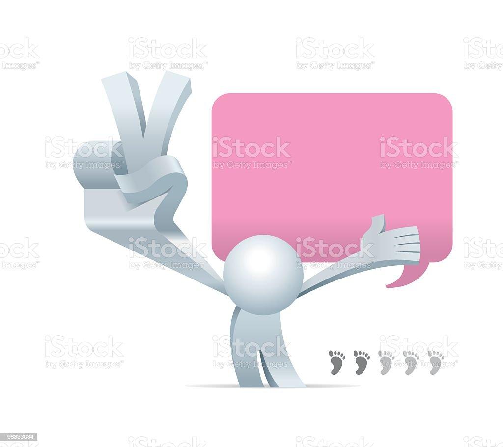 Simplified man Two of Five Steps royalty-free simplified man two of five steps stock vector art & more images of adult