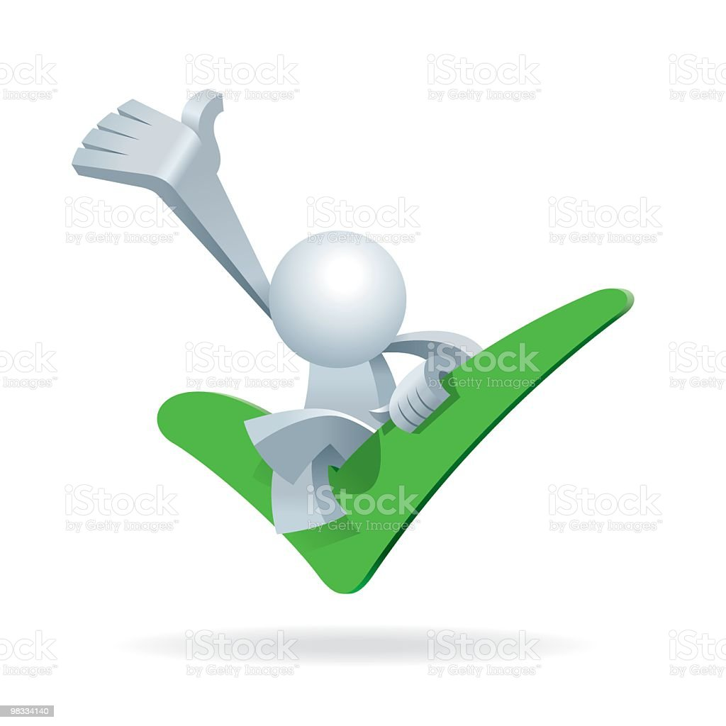 Simplified man Welcome You on a Yes Sign royalty-free simplified man welcome you on a yes sign stock vector art & more images of adult