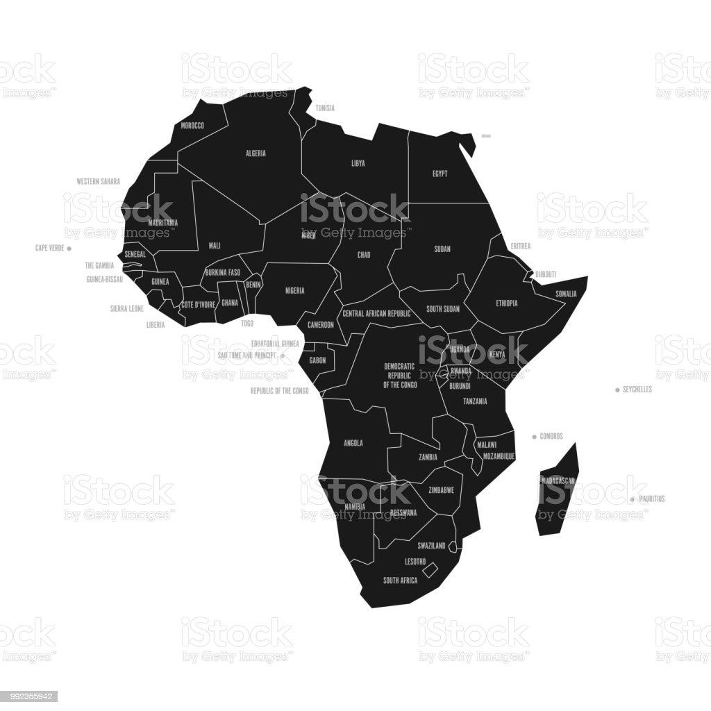 Carte De Lafrique Noir Et Blanc.Carte Schematique Simplifiee De Lafrique Carte Politique