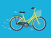 Simplified vector city bike