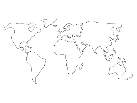 Montessori Geography: World Map and Continents - Gift of ... |World Map Outline Continents