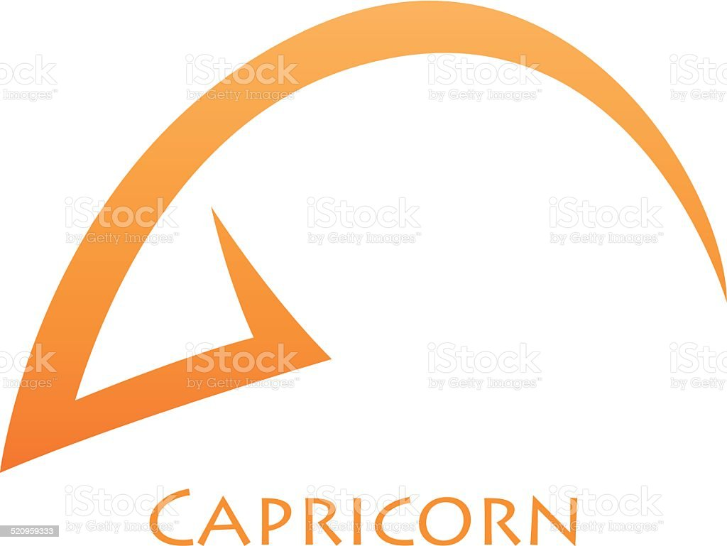 Simplistic Capricorn Zodiac Star Sign vector art illustration