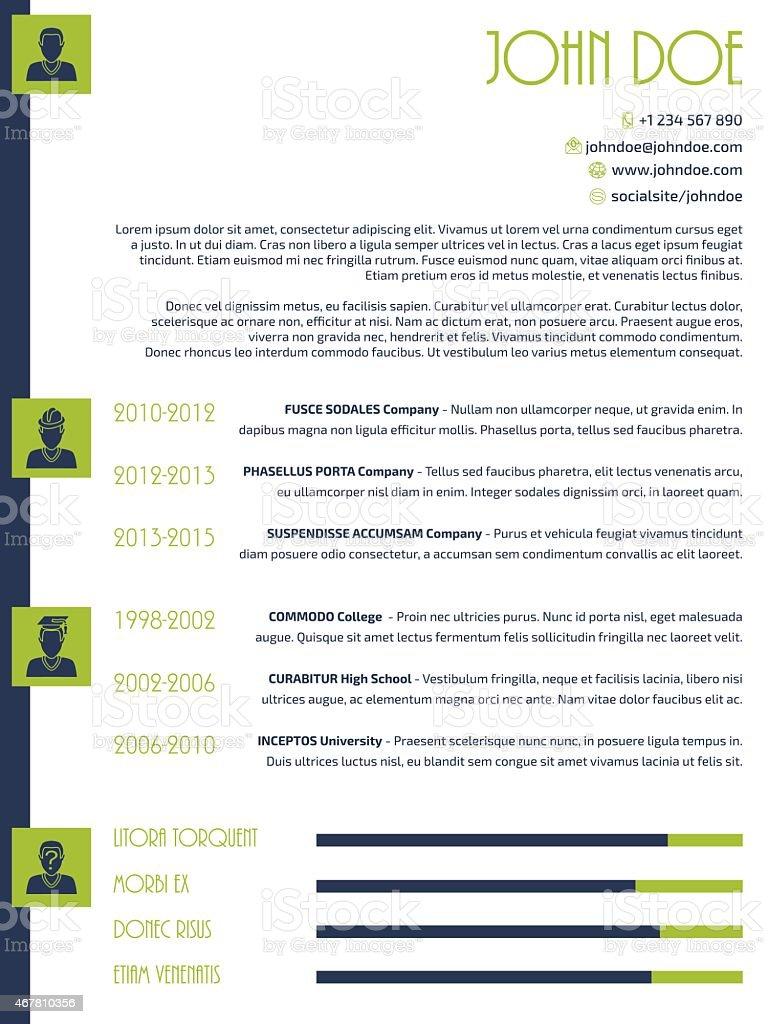 Ilustración de Simplista Diseño Moderno De Reanudar Cv y más banco ...