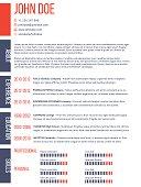 Simplistic yet modern curriculum vitae cv resume template design