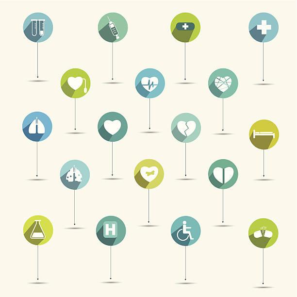 illustrations, cliparts, dessins animés et icônes de il vous suffit d'un hôpital minimaliste et un symbole médical icône set. - gériatrie
