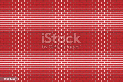 Simulate brick wall and brickwork for your design. Seamless vector illustration.