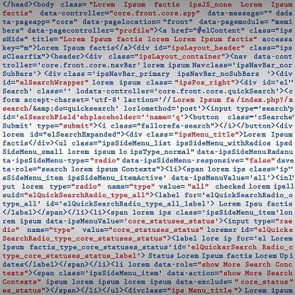 Simulation code programming script background