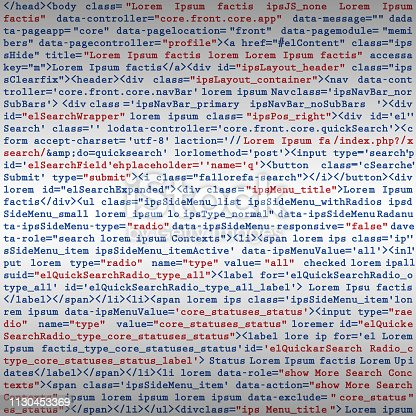 Vector Illustration of a Simulation Fake HTML code programming script background