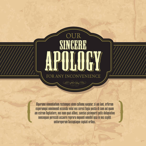 Best Apology Letter Illustrations, Royalty-Free Vector ...