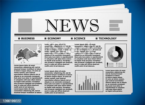 Singapore business and economy on newspaper.