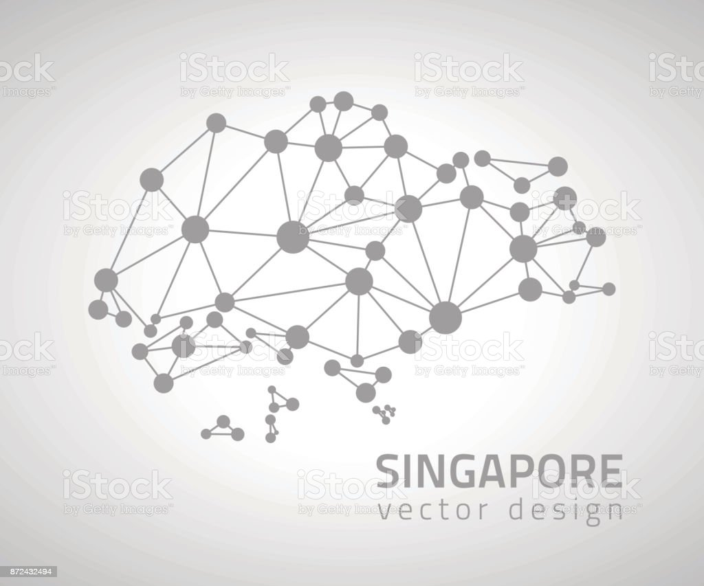 Singapore Grey Dot Mosaic Perspective Vector Map Stock Vector Art ...