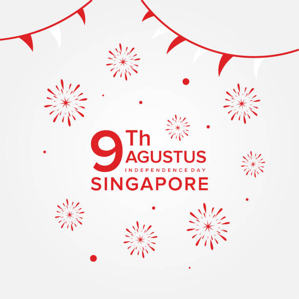 Singapore Independence Day Vector Design Template vector art illustration