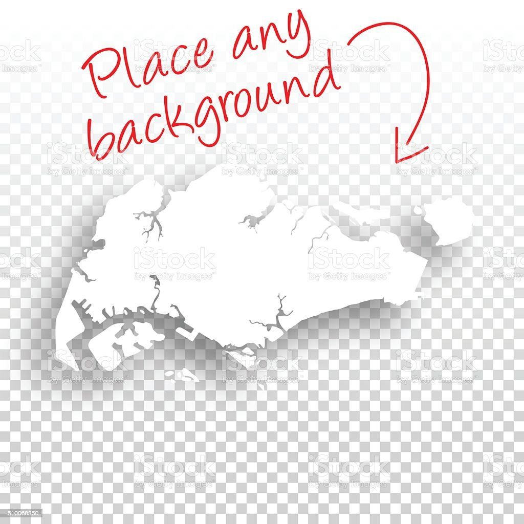 Singapore Map For Design Blank Background Stock Vector Art - Singapore map vector