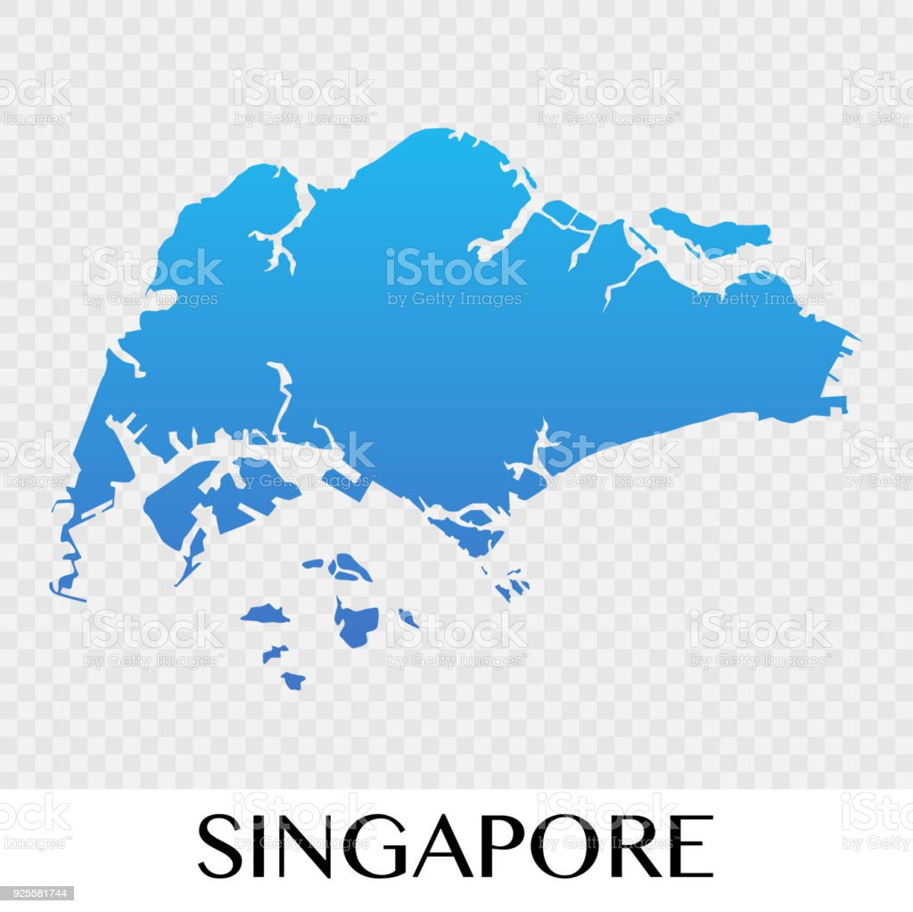 Singapore Map In Asia Continent Illustration Design Stock Vector Art ...