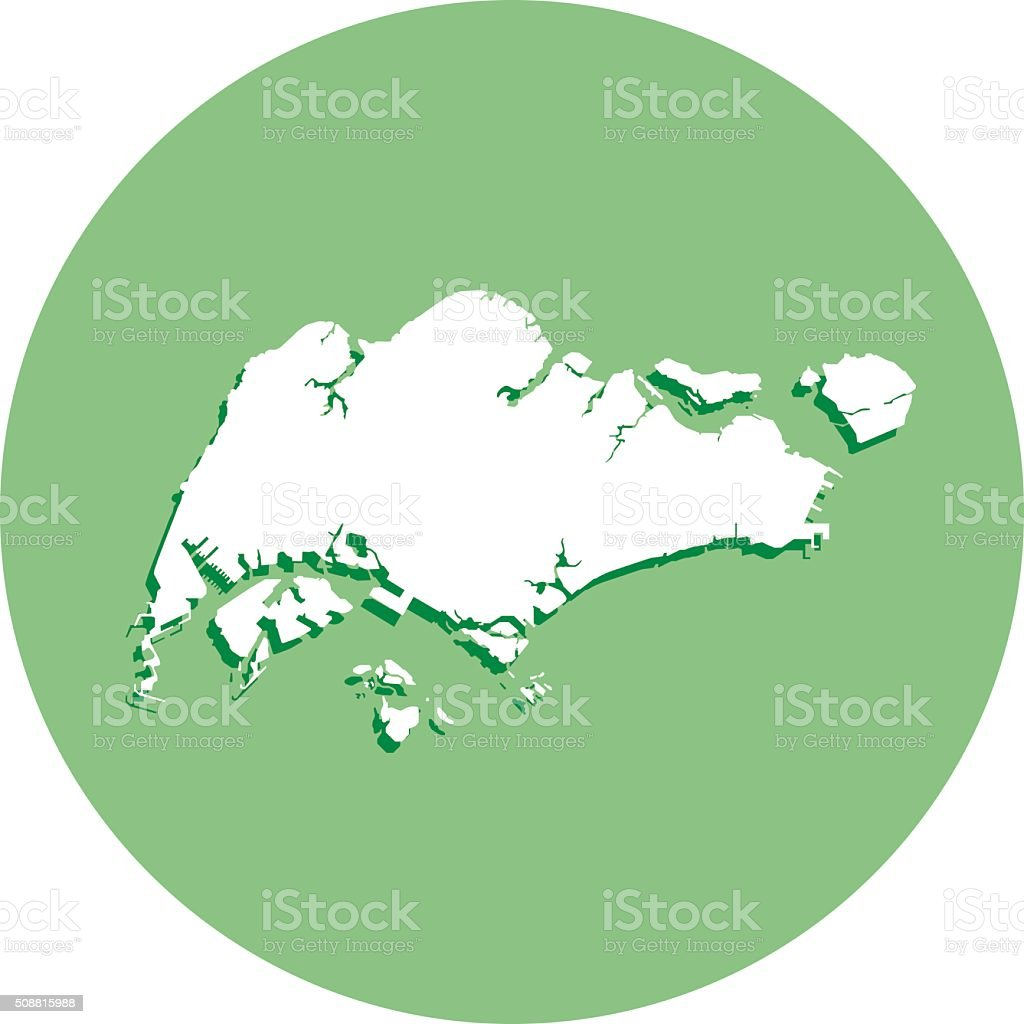 Asia Map Singapore.Singapore Round Map Icon Stock Vector Art More Images Of Asia