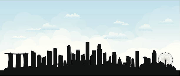 stockillustraties, clipart, cartoons en iconen met singapore (buildings are detailed, moveable and complete) - singapore
