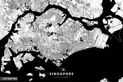 istock Singapore Vector Map 1251554184