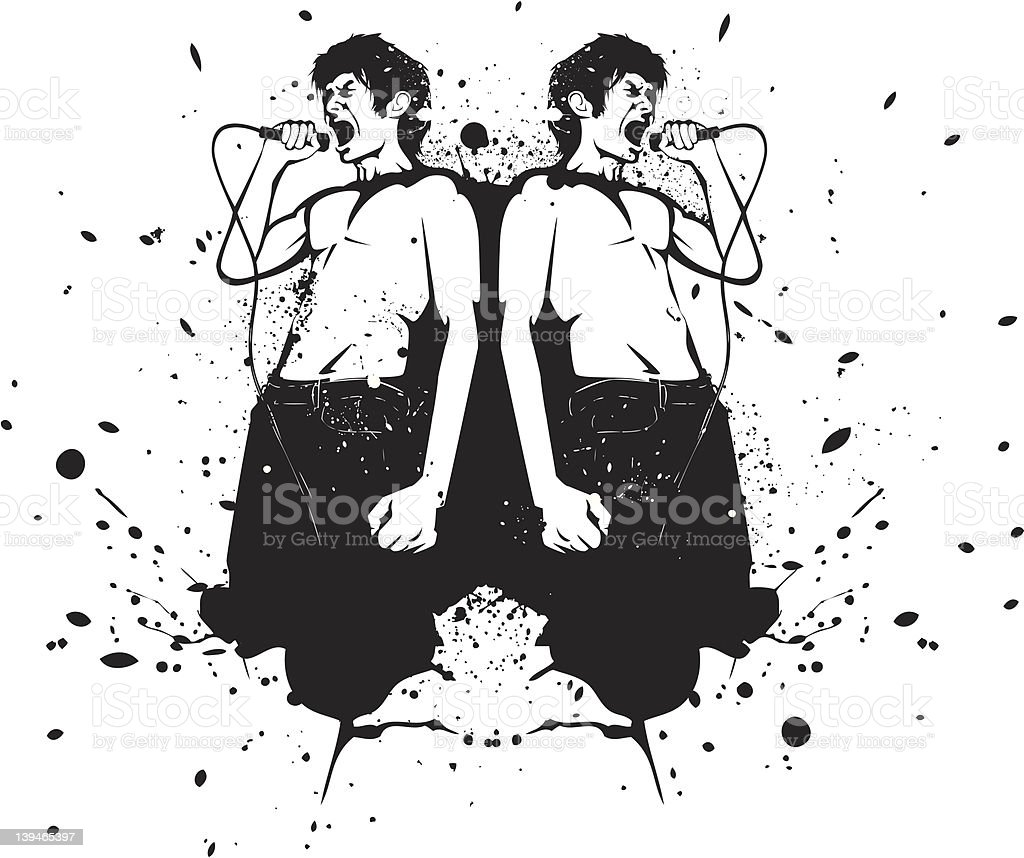 Singer Rorschach royalty-free singer rorschach stock vector art & more images of black and white