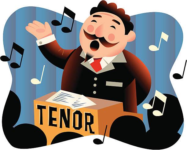 stockillustraties, clipart, cartoons en iconen met singer - tenor