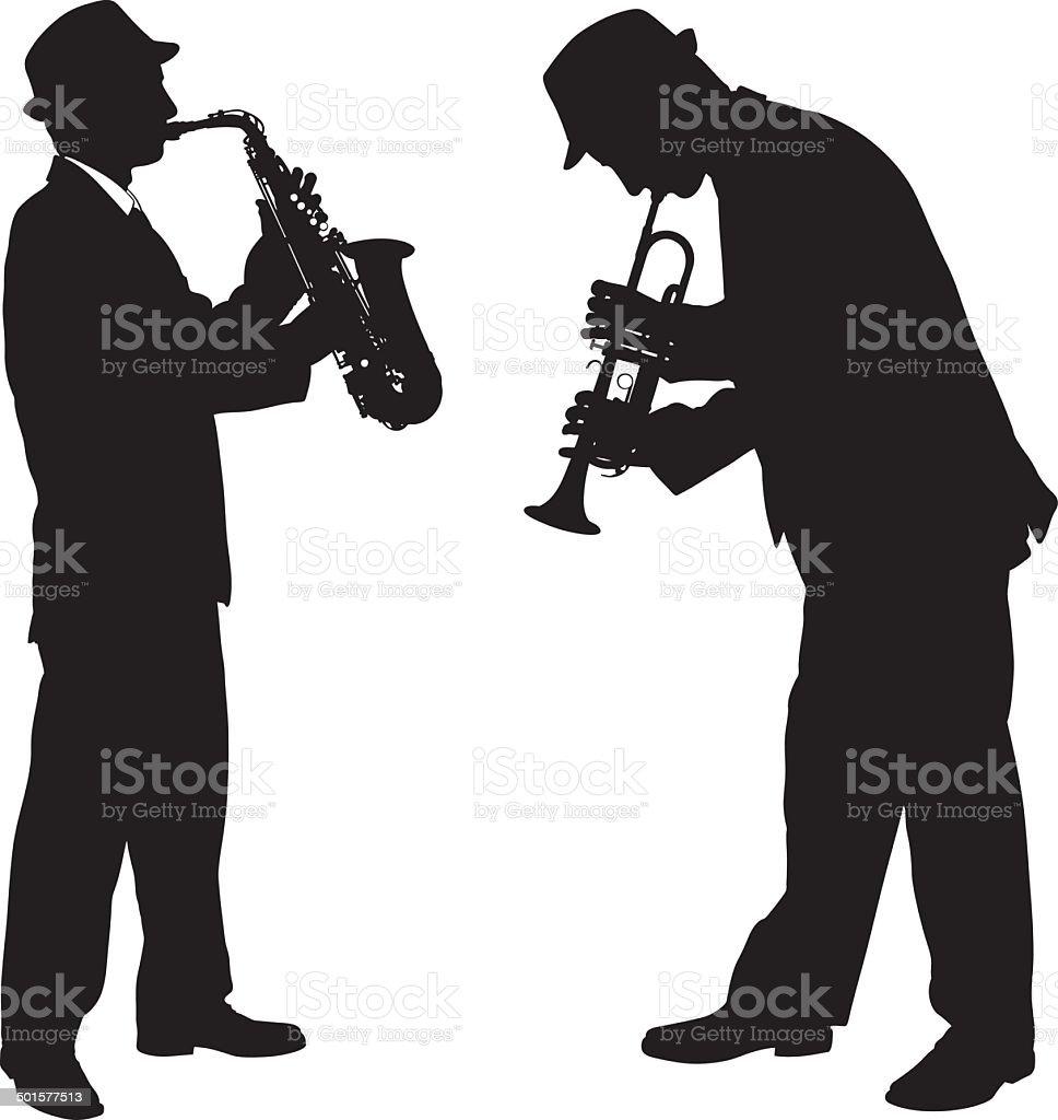 singers vector art illustration