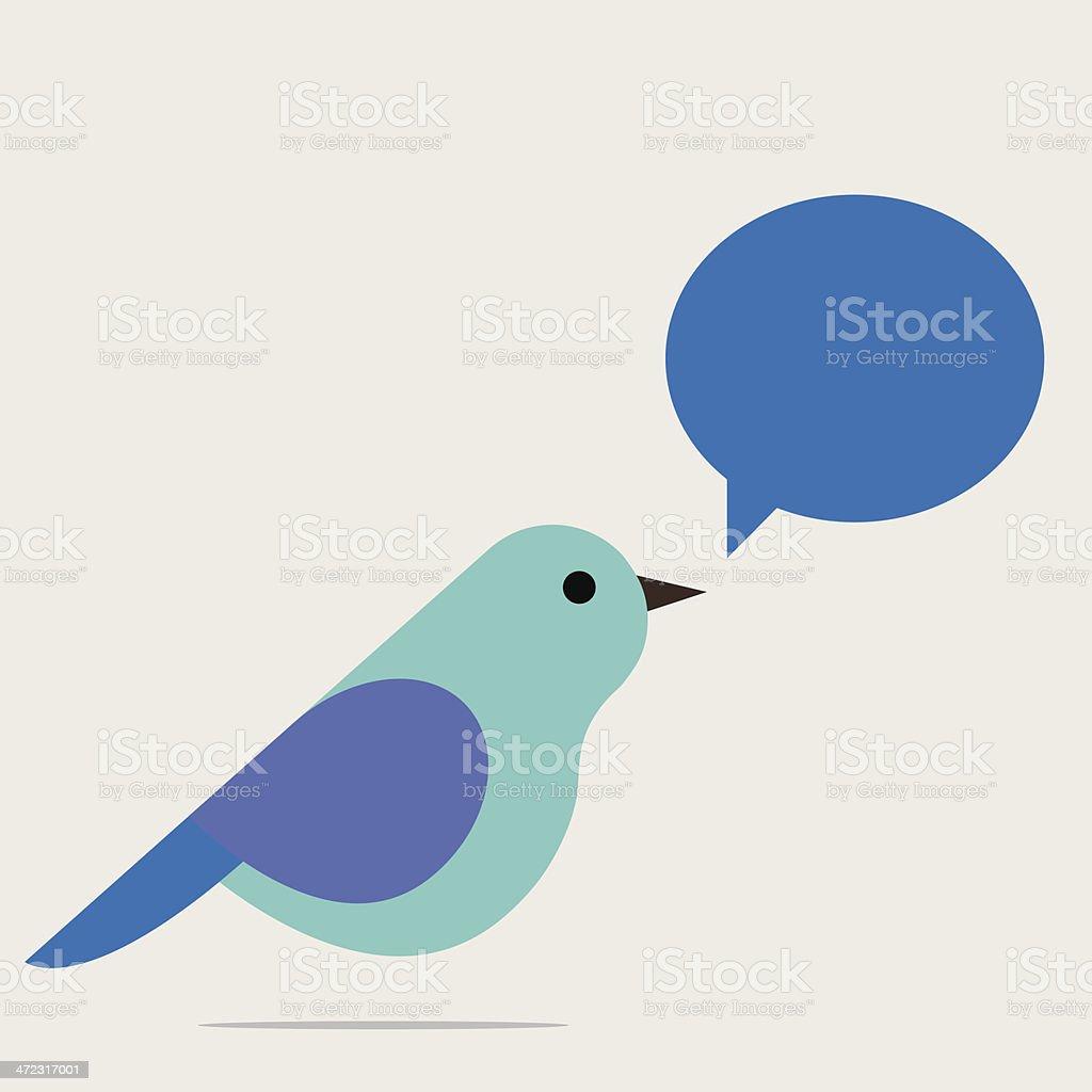 Singing bird royalty-free stock vector art