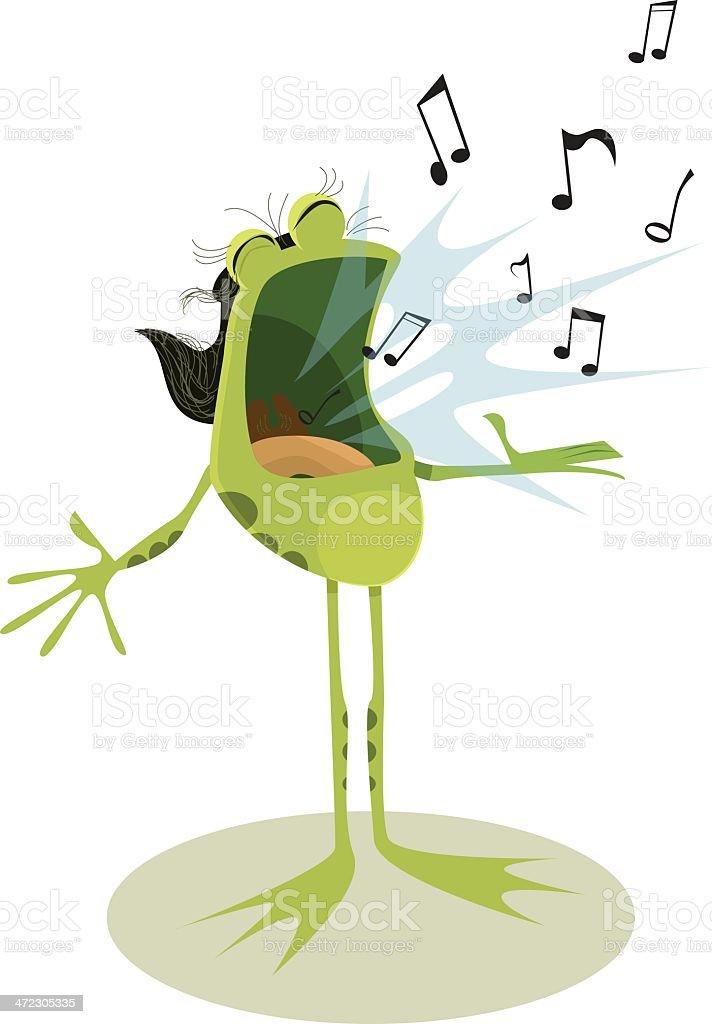 Singing Frog royalty-free stock vector art