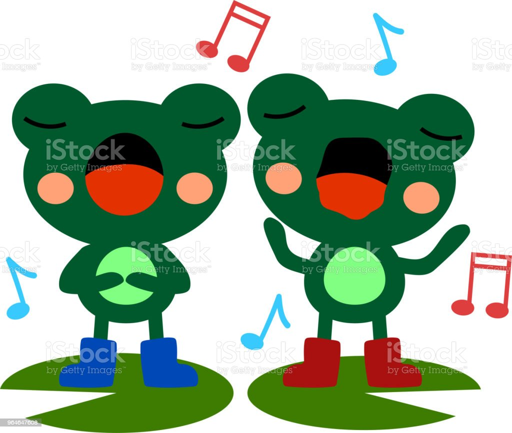 Singing frogs illustration 2 royalty-free singing frogs illustration 2 stock vector art & more images of amphibian