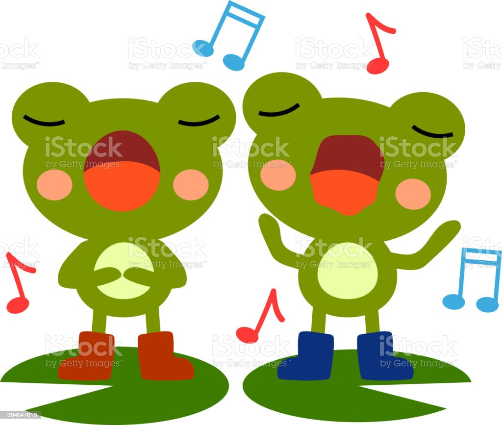 Singing frogs illustration royalty-free singing frogs illustration stock vector art & more images of amphibian