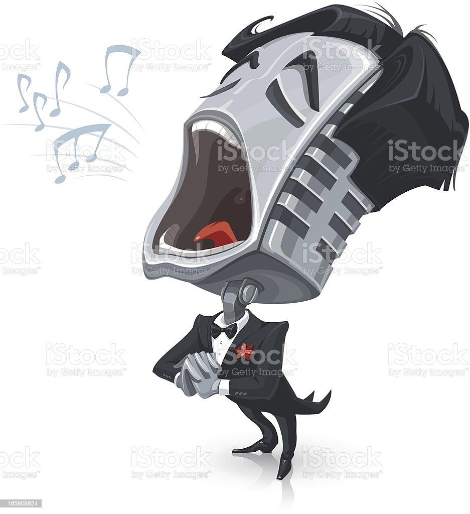 Singing Mic vector art illustration