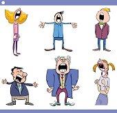 singing people cartoon set