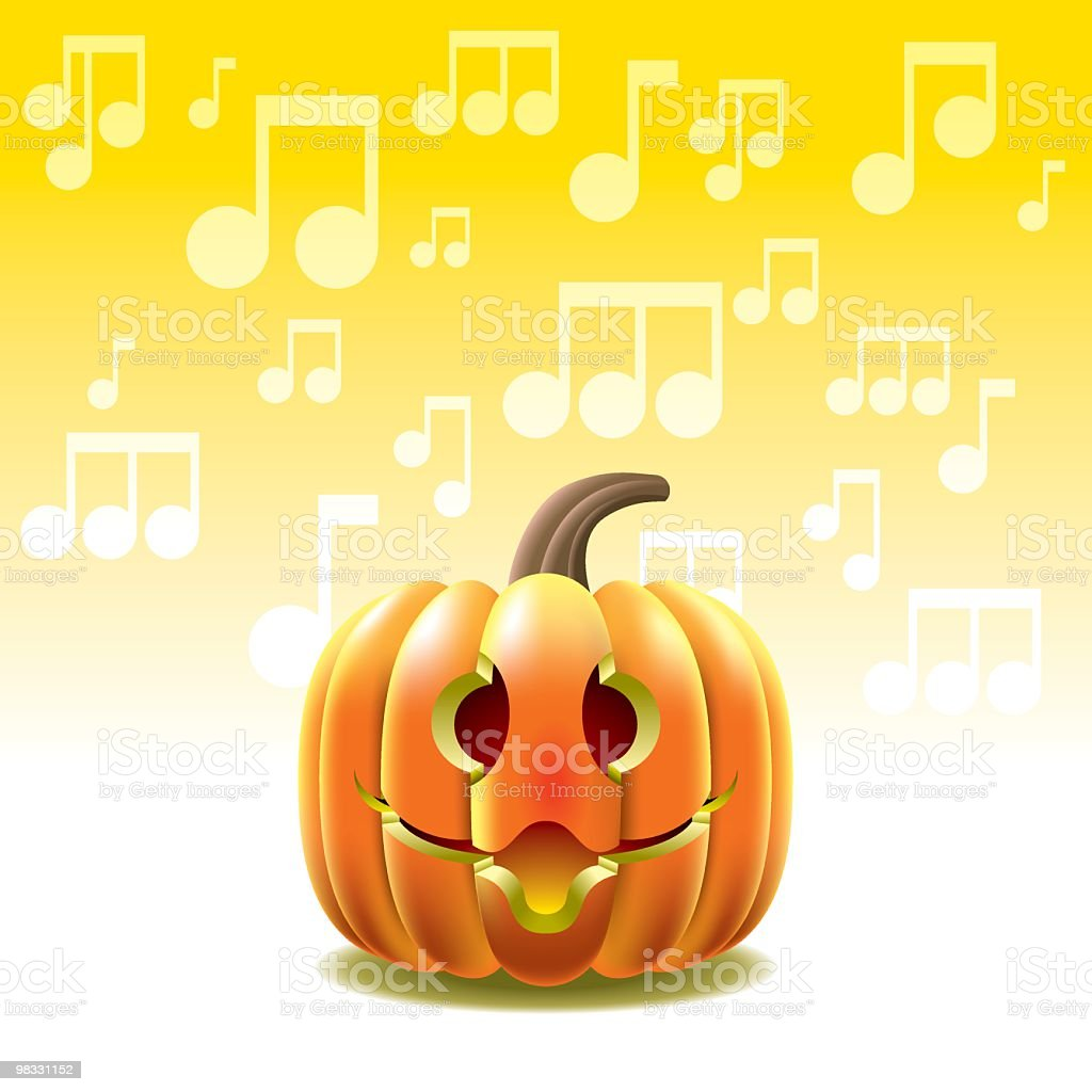 Singing Pumpkin royalty-free singing pumpkin stock vector art & more images of art