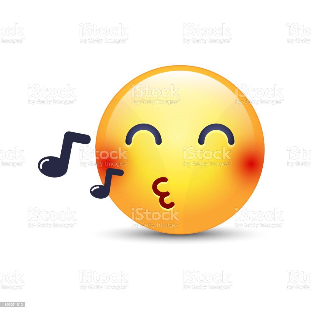 emoji siffle une chanson moticne vecteur de dessin anim avec - Dessin Avec Emoji
