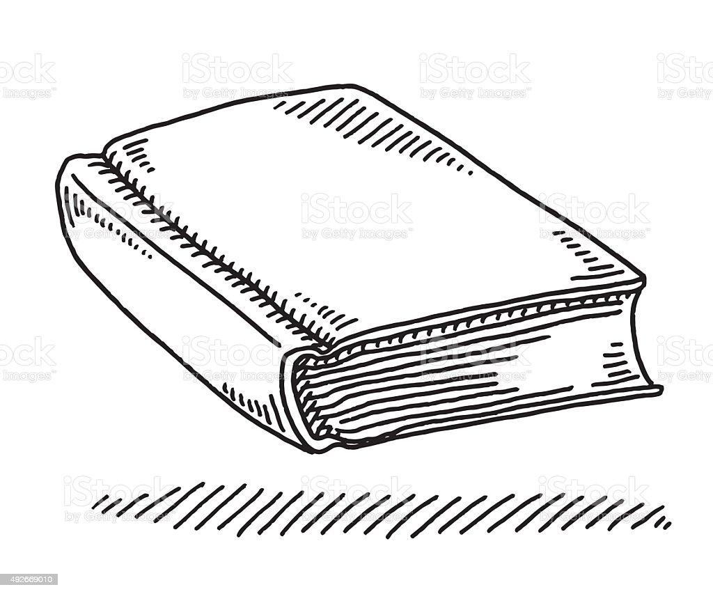 Line Drawing Book : Rysunek pusty okładka książki stockowe grafiki wektorowe