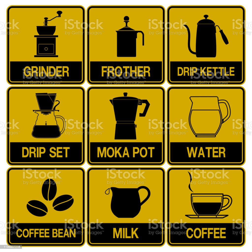 Single color icon of fresh coffee equipment