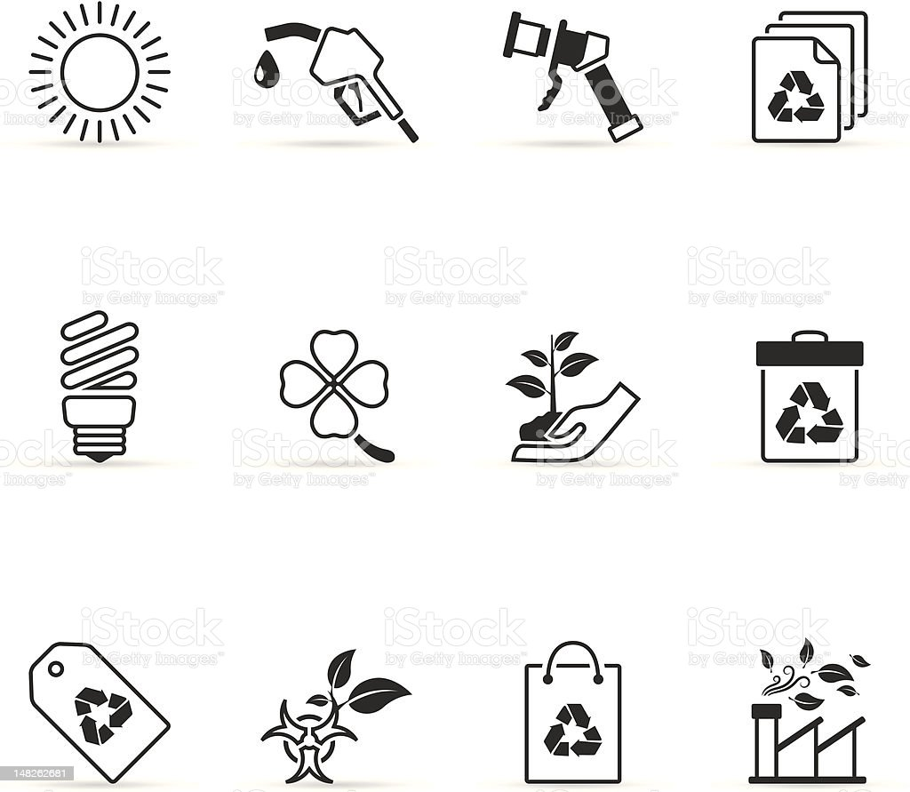 Single Color Icons - More Environment royalty-free stock vector art