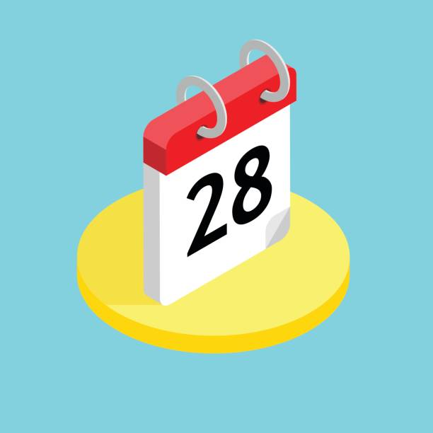 Single day page from calendar icon. vector art illustration