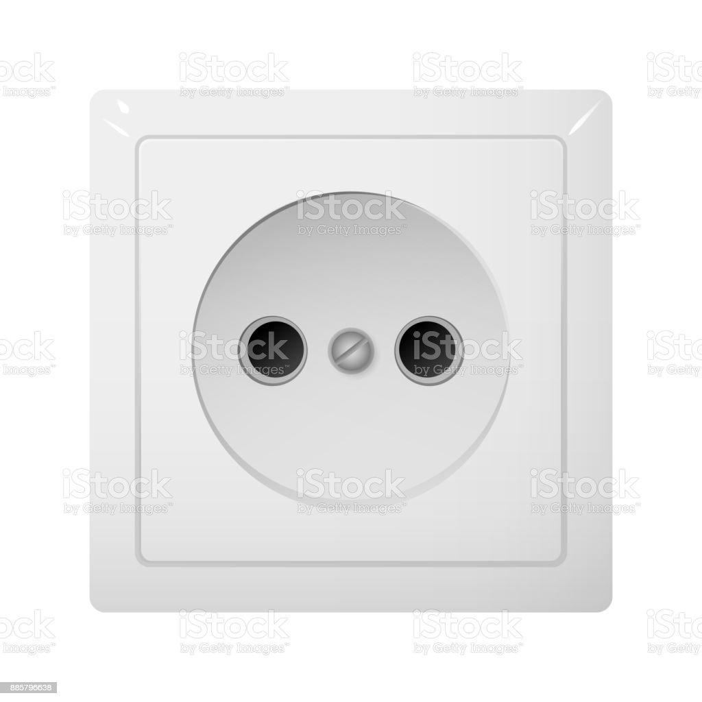 Single Electrical Socket Type C Power Plug Stock Vector Art & More ...