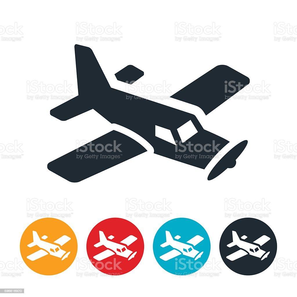 Single Engine Airplane Icon vector art illustration