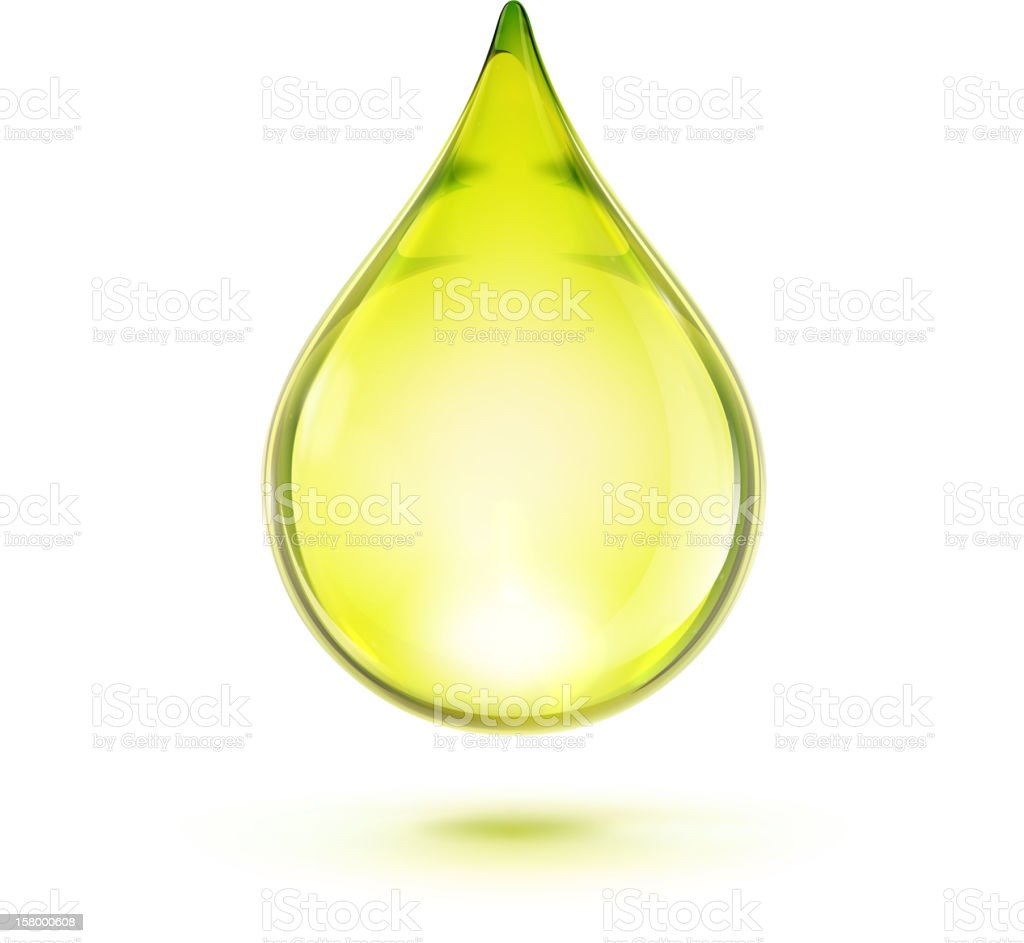 Single green oil drop isolated on white background royalty-free single green oil drop isolated on white background stock vector art & more images of alternative therapy